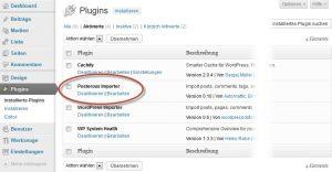 Posterous Space in WordPress importieren