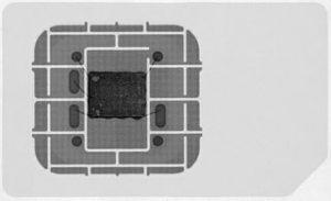 SIM-Karte im Röntgenbild