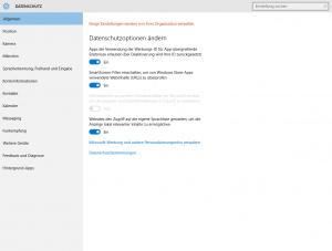 Datenschutz Windows 10