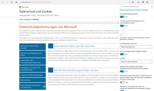 Erweiterte Einstellungen Microsoft Edge